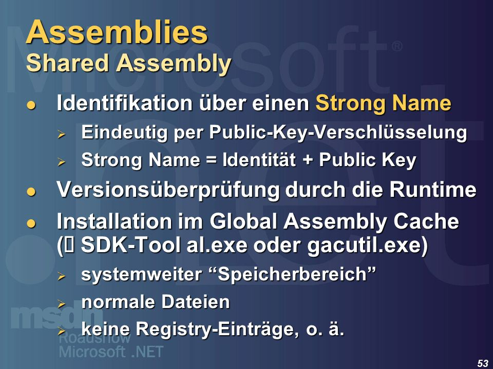 Assemblies Shared Assembly