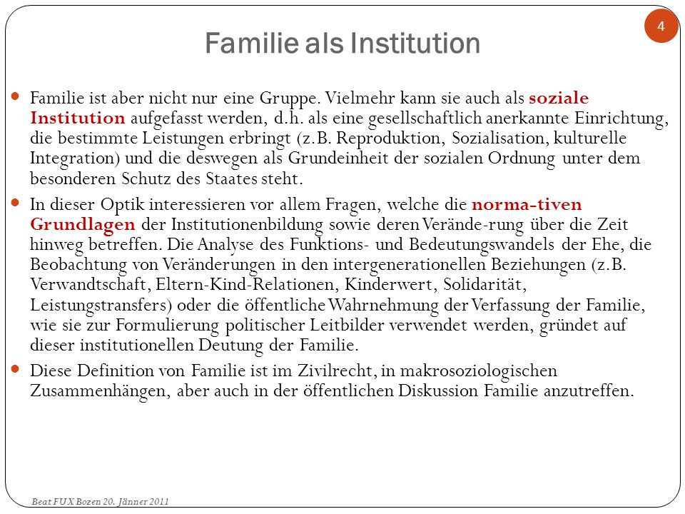 Familie als Institution