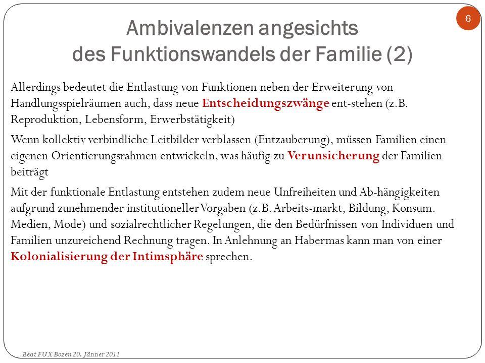 Ambivalenzen angesichts des Funktionswandels der Familie (2)