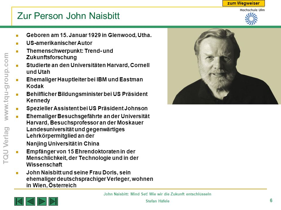 Zur Person John Naisbitt