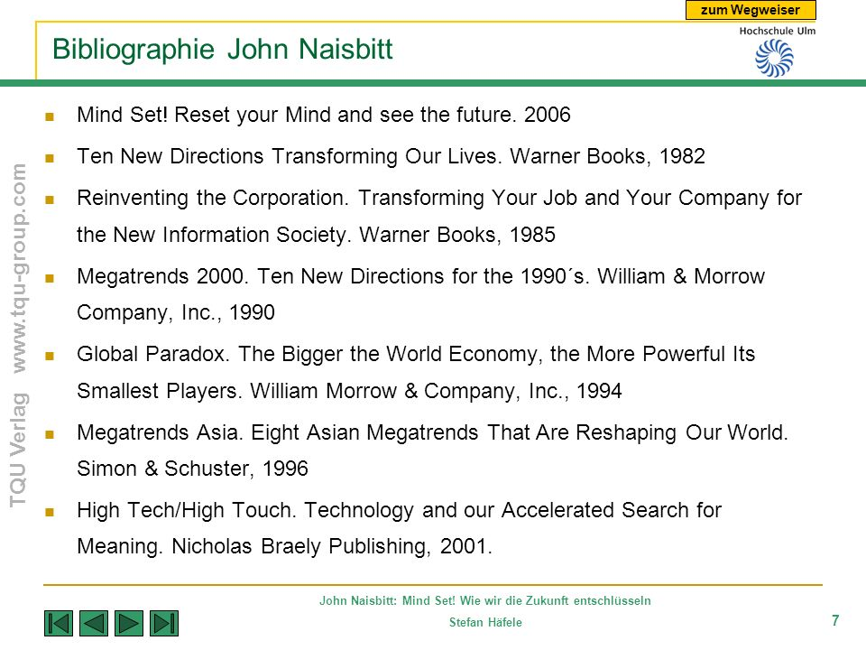 Bibliographie John Naisbitt