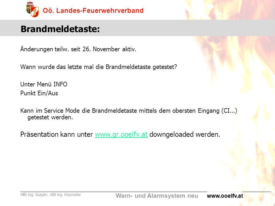 Brandmeldetaste: Änderungen teilw. seit 26. November aktiv. Wann wurde das letzte mal die Brandmeldetaste getestet