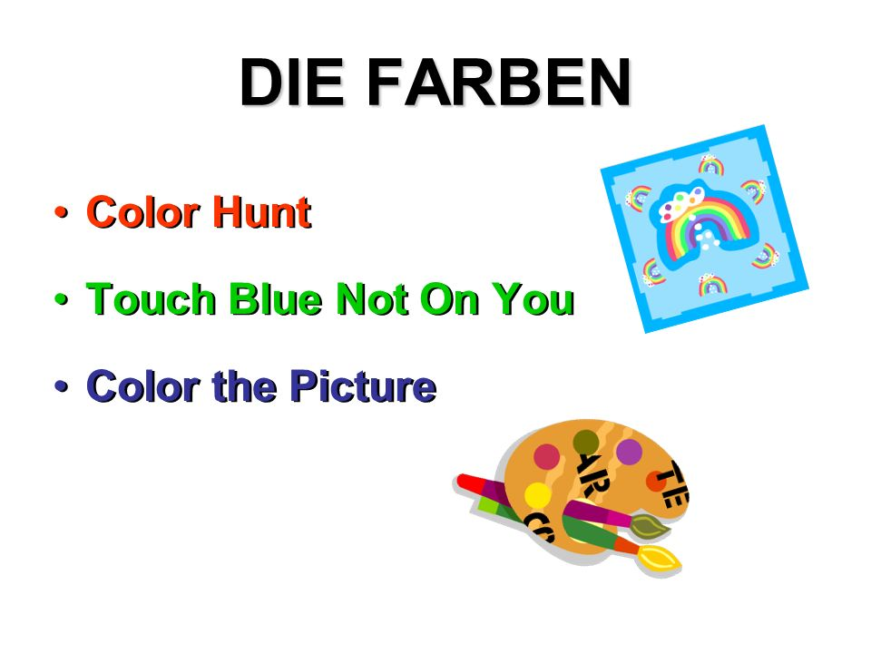 DIE FARBEN Color Hunt Touch Blue Not On You Color the Picture