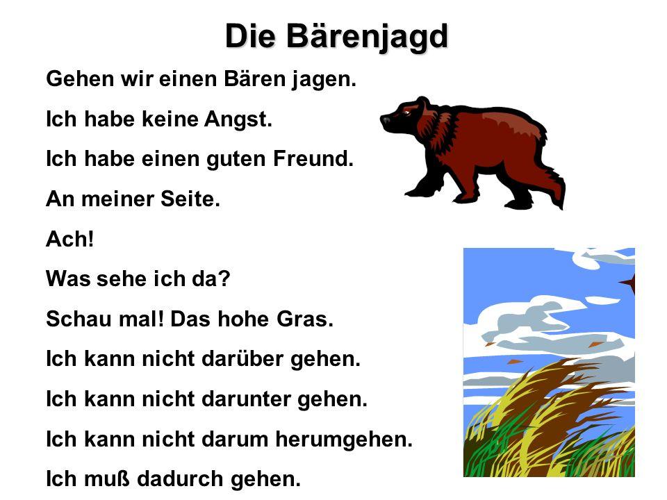 Die Bärenjagd Gehen wir einen Bären jagen. Ich habe keine Angst.