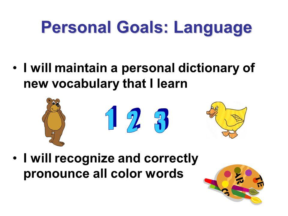 Personal Goals: Language