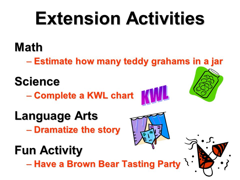 Extension Activities Math Science Language Arts KWL Fun Activity