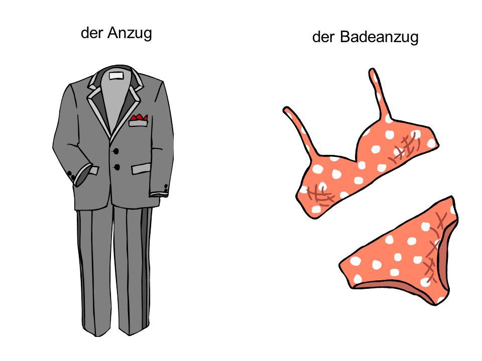 der Anzug der Badeanzug