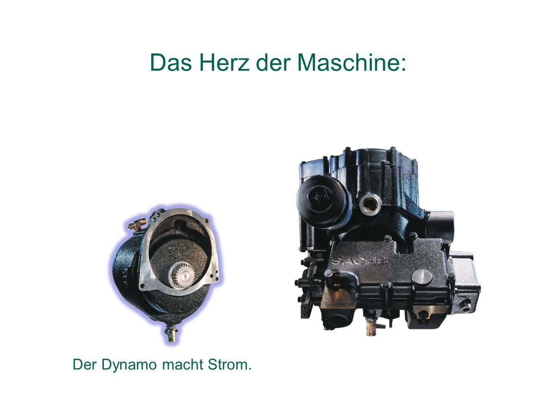 Das Herz der Maschine: Der Dynamo macht Strom.