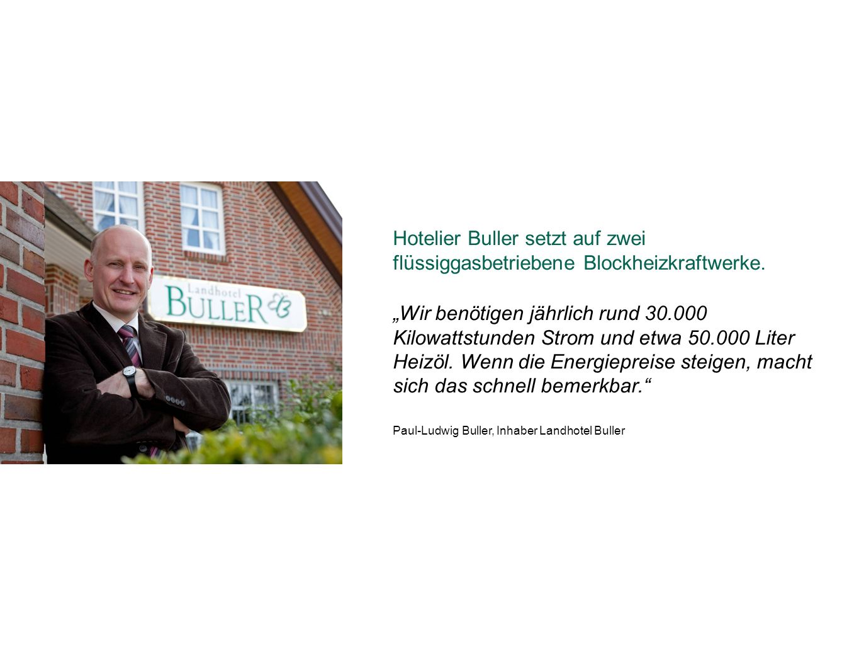 Hotelier Buller setzt auf zwei flüssiggasbetriebene Blockheizkraftwerke.