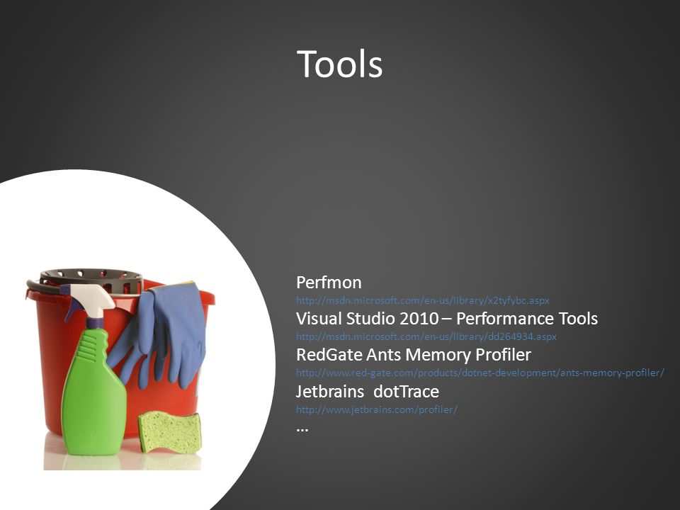 Tools Perfmon Visual Studio 2010 – Performance Tools