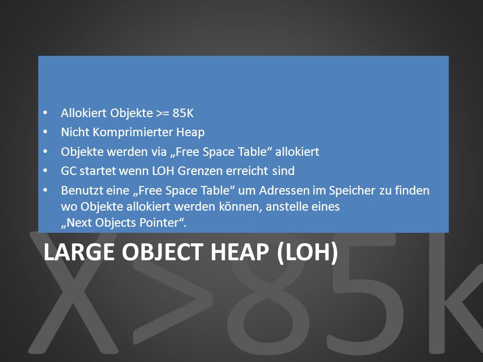 Large Object Heap (LOH)
