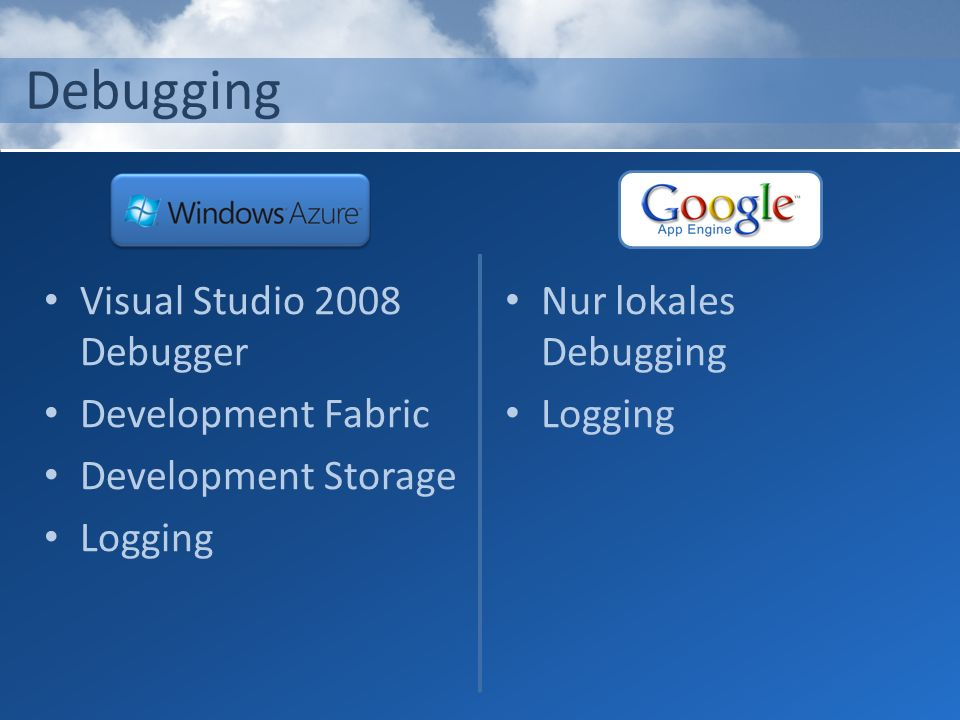 Debugging Visual Studio 2008 Debugger Development Fabric