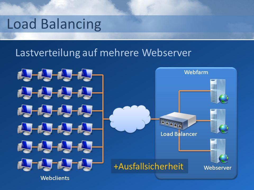 Load Balancing Lastverteilung auf mehrere Webserver +Ausfallsicherheit