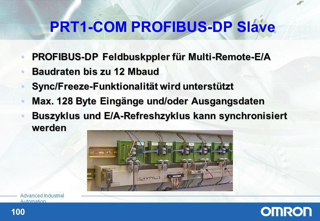 PRT1-COM PROFIBUS-DP Slave