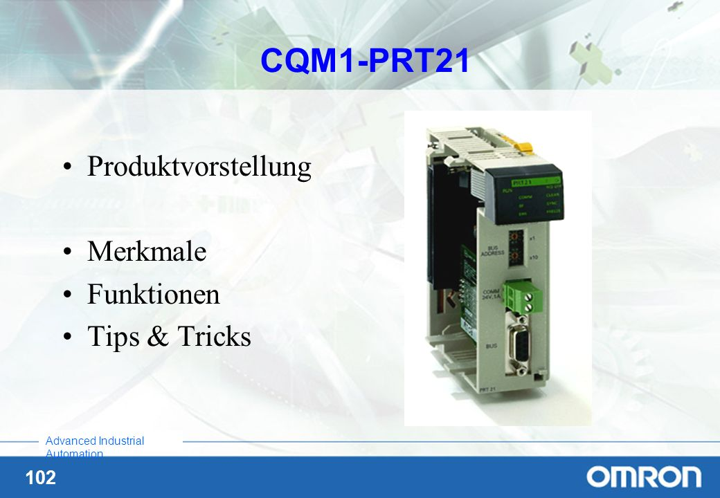 CQM1-PRT21 Produktvorstellung Merkmale Funktionen Tips & Tricks