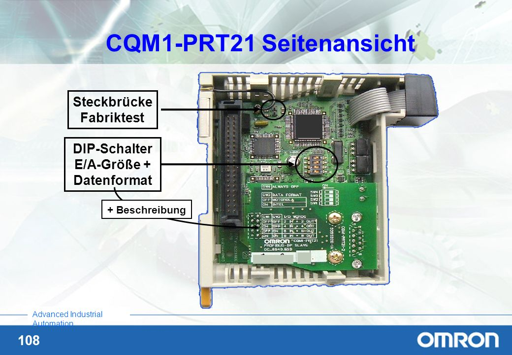 CQM1-PRT21 Seitenansicht