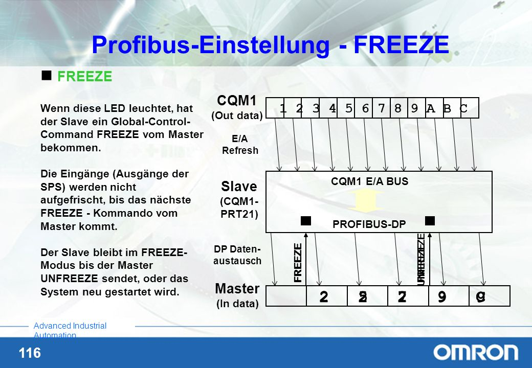 Profibus-Einstellung - FREEZE