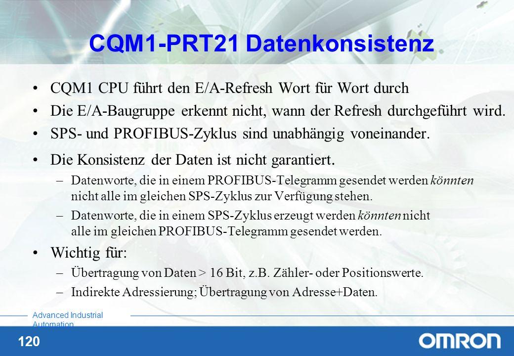 CQM1-PRT21 Datenkonsistenz