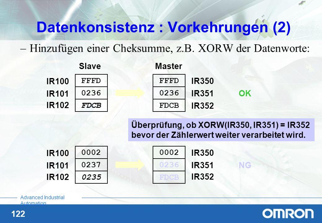 Datenkonsistenz : Vorkehrungen (2)
