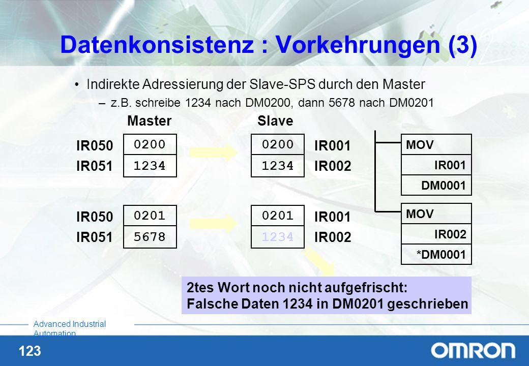 Datenkonsistenz : Vorkehrungen (3)