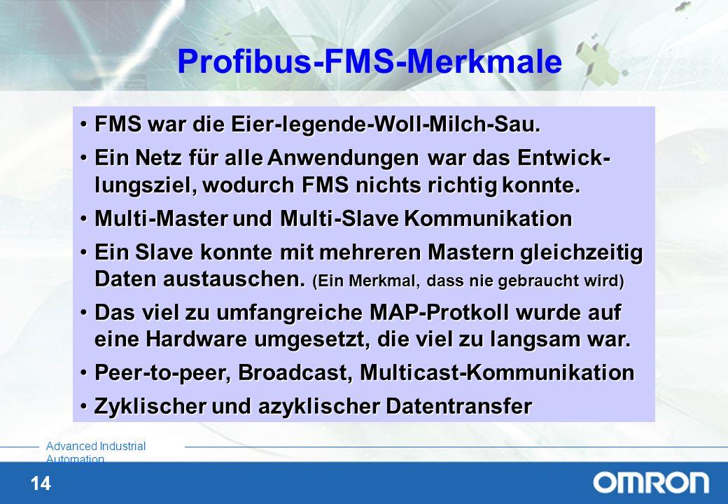 Profibus-FMS-Merkmale