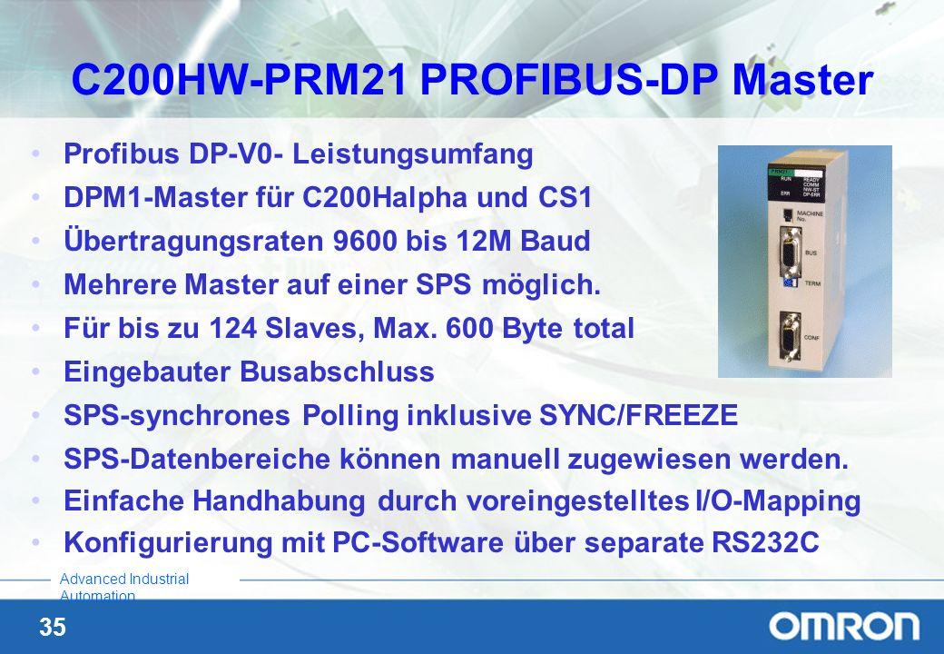 C200HW-PRM21 PROFIBUS-DP Master