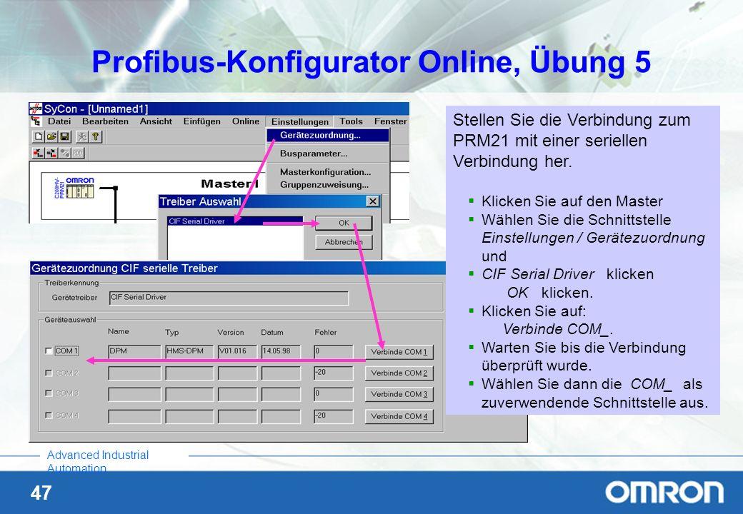 Profibus-Konfigurator Online, Übung 5