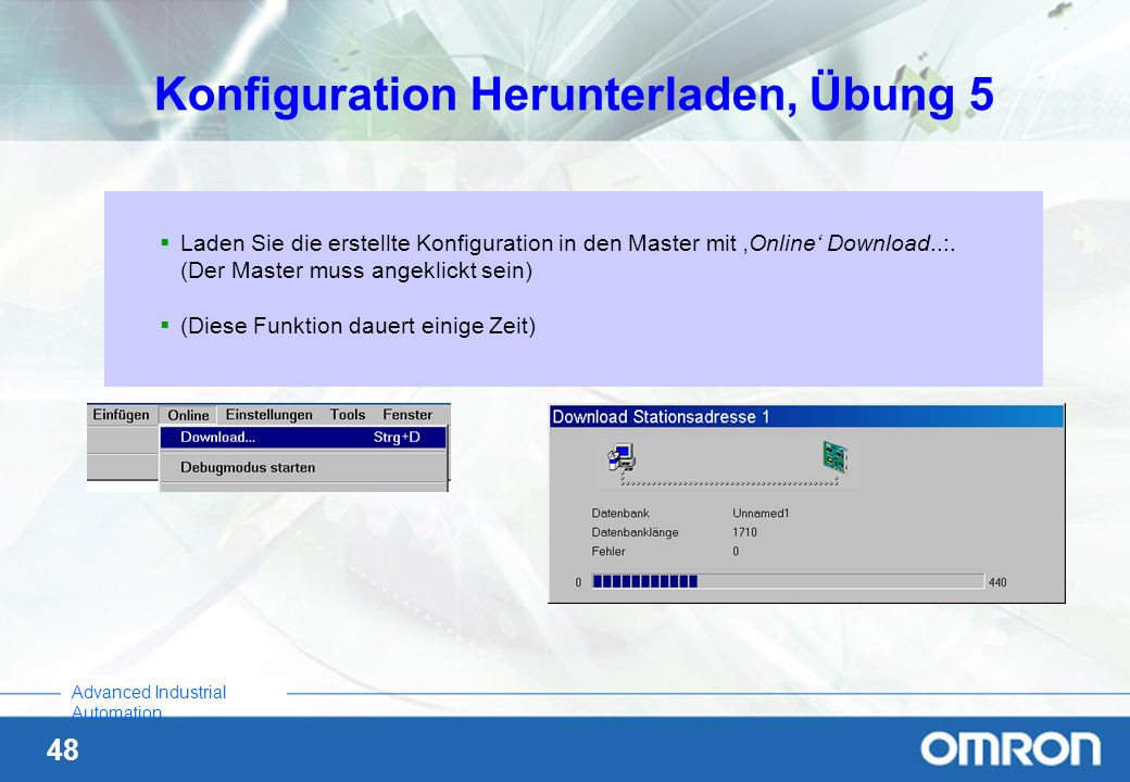Konfiguration Herunterladen, Übung 5