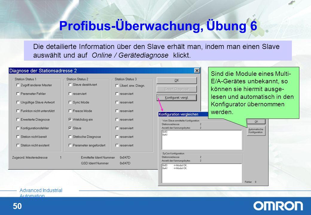 Profibus-Überwachung, Übung 6