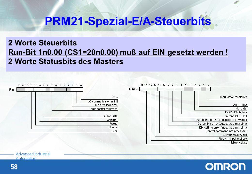 PRM21-Spezial-E/A-Steuerbits
