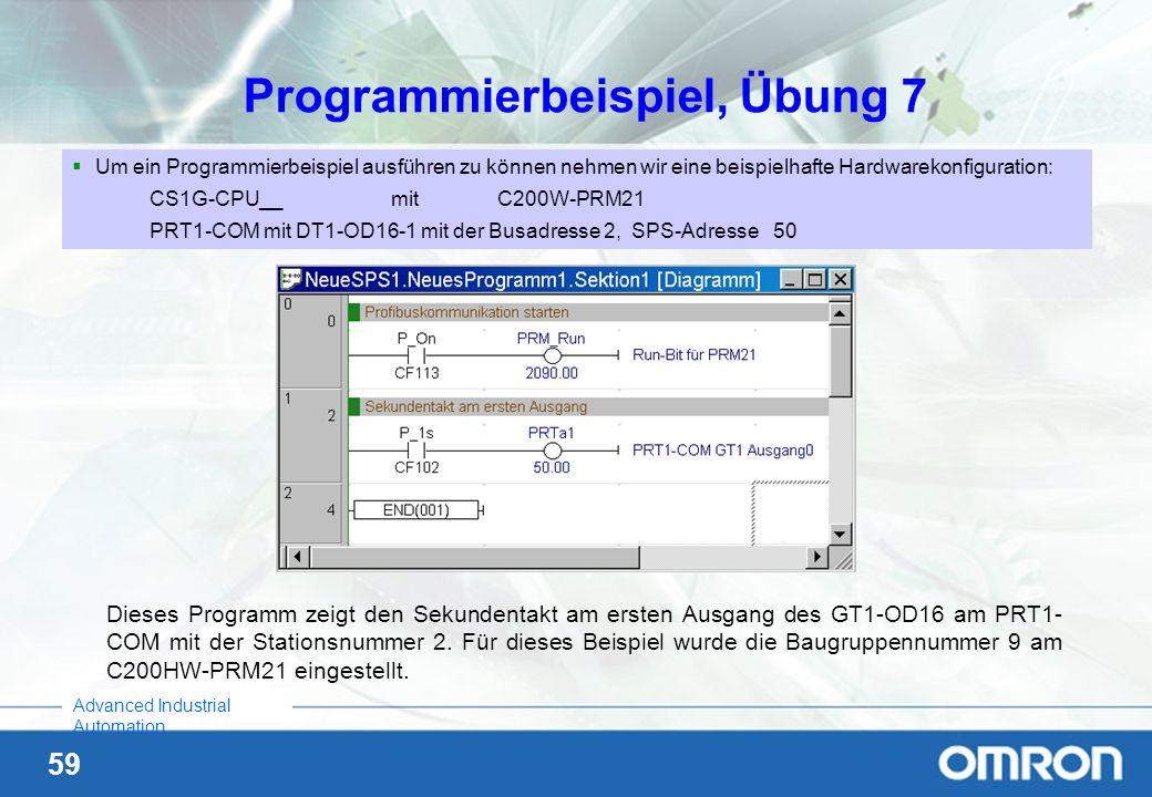 Programmierbeispiel, Übung 7