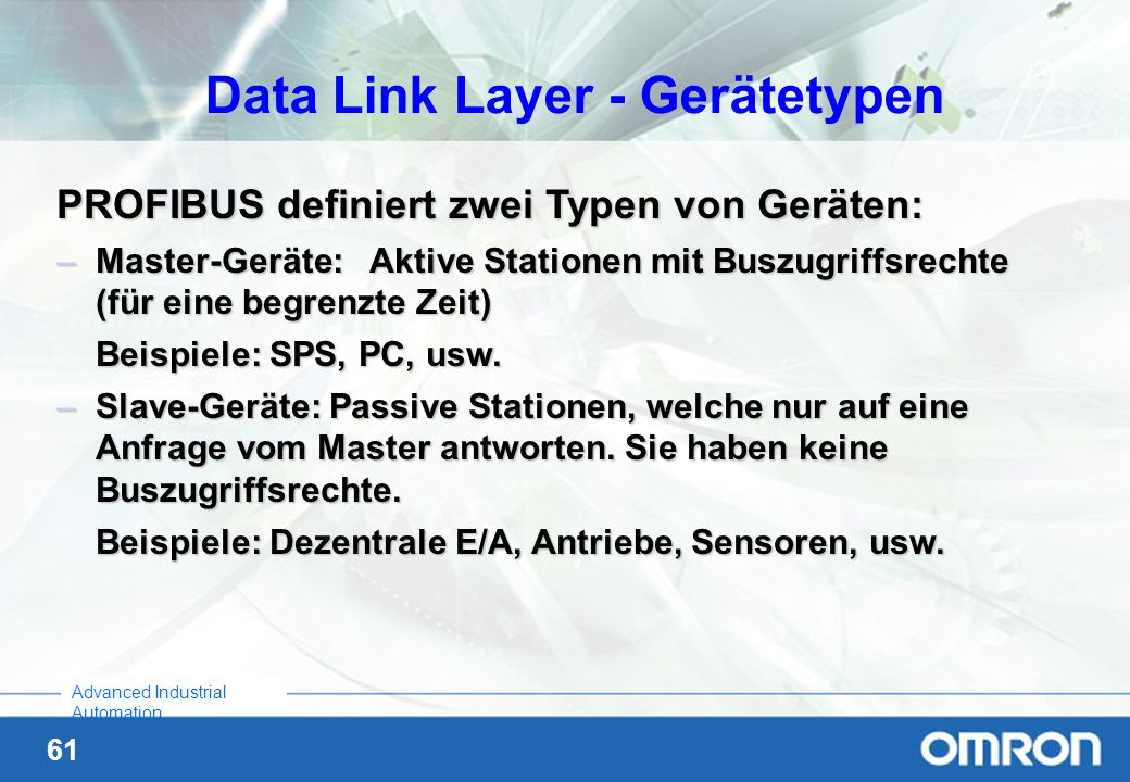 Data Link Layer - Gerätetypen