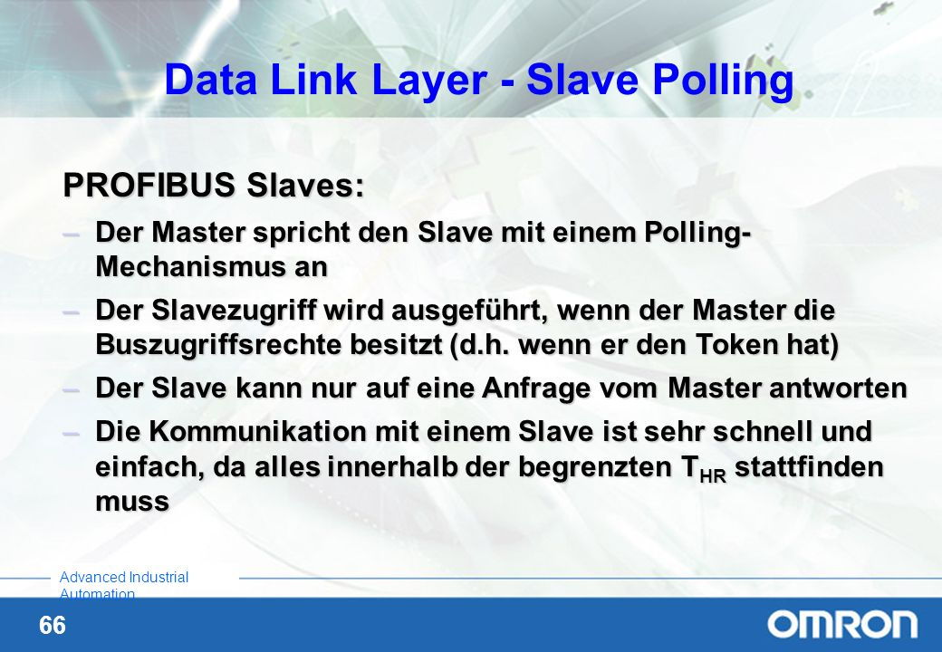 Data Link Layer - Slave Polling