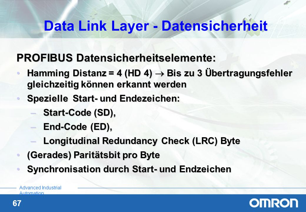 Data Link Layer - Datensicherheit