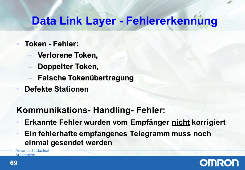 Data Link Layer - Fehlererkennung