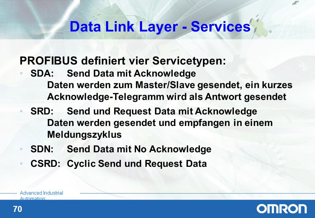 Data Link Layer - Services