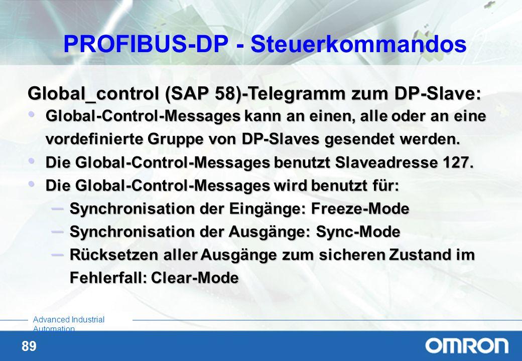 PROFIBUS-DP - Steuerkommandos