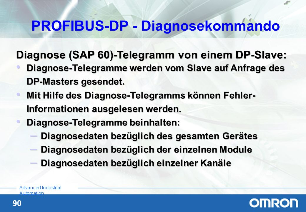 PROFIBUS-DP - Diagnosekommando