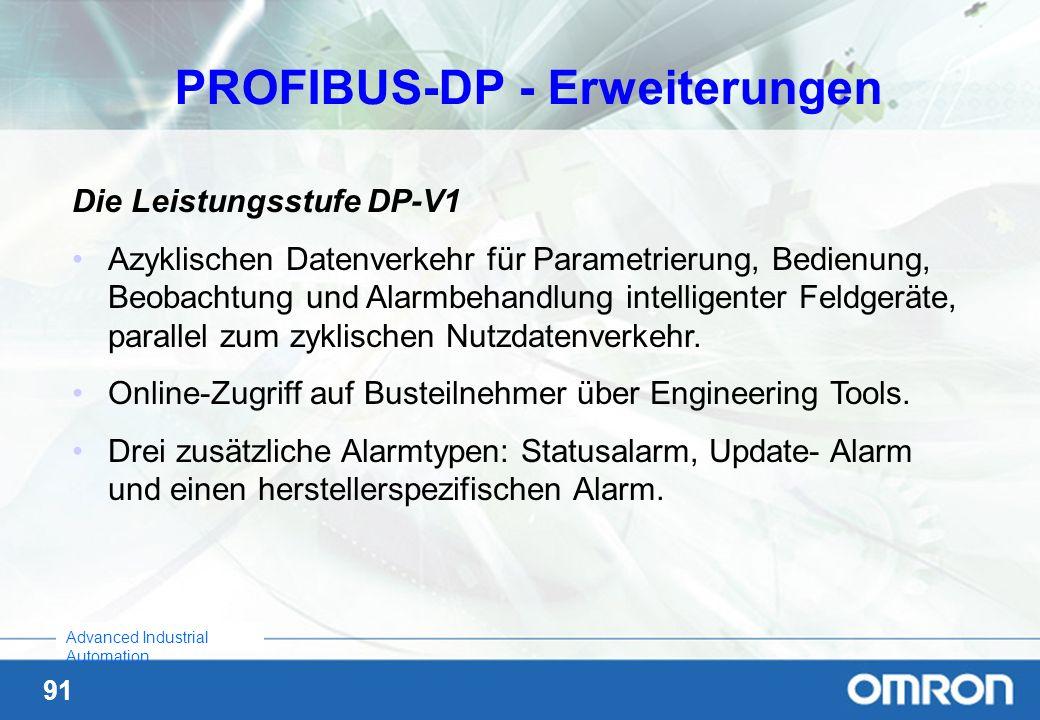 PROFIBUS-DP - Erweiterungen