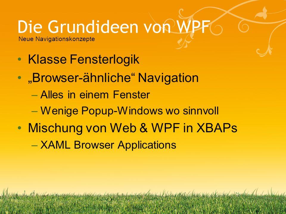 Die Grundideen von WPF Klasse Fensterlogik