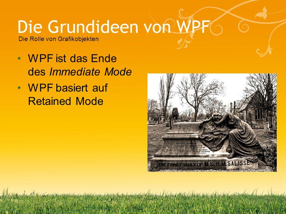 Die Grundideen von WPF WPF ist das Ende des Immediate Mode