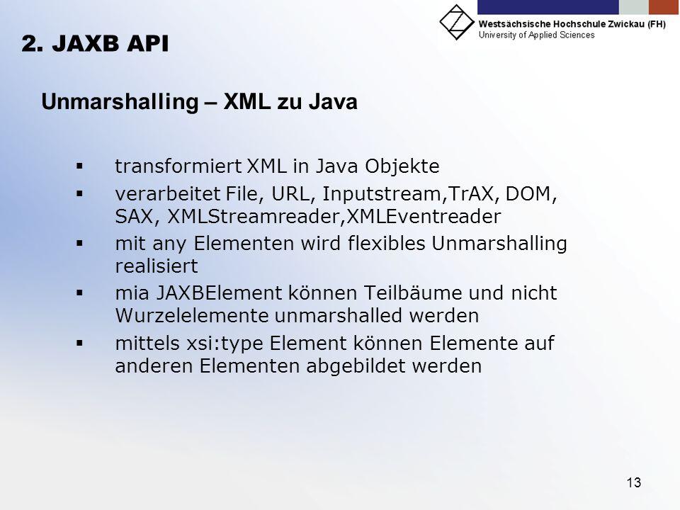 Unmarshalling – XML zu Java