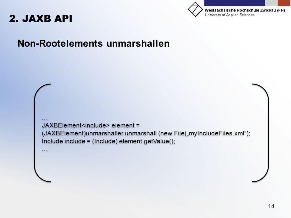 Non-Rootelements unmarshallen