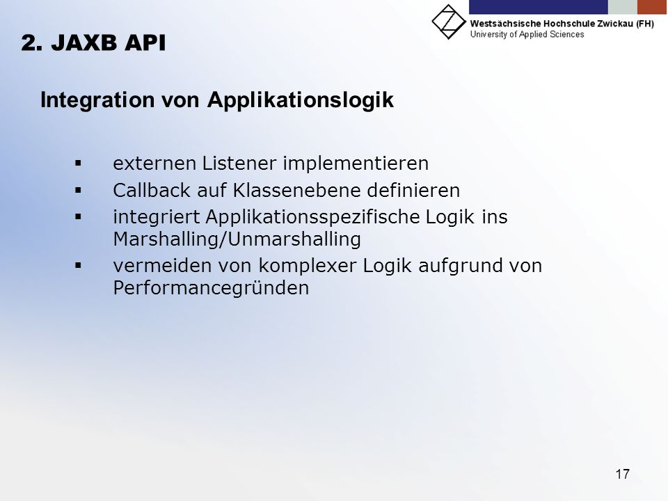 Integration von Applikationslogik