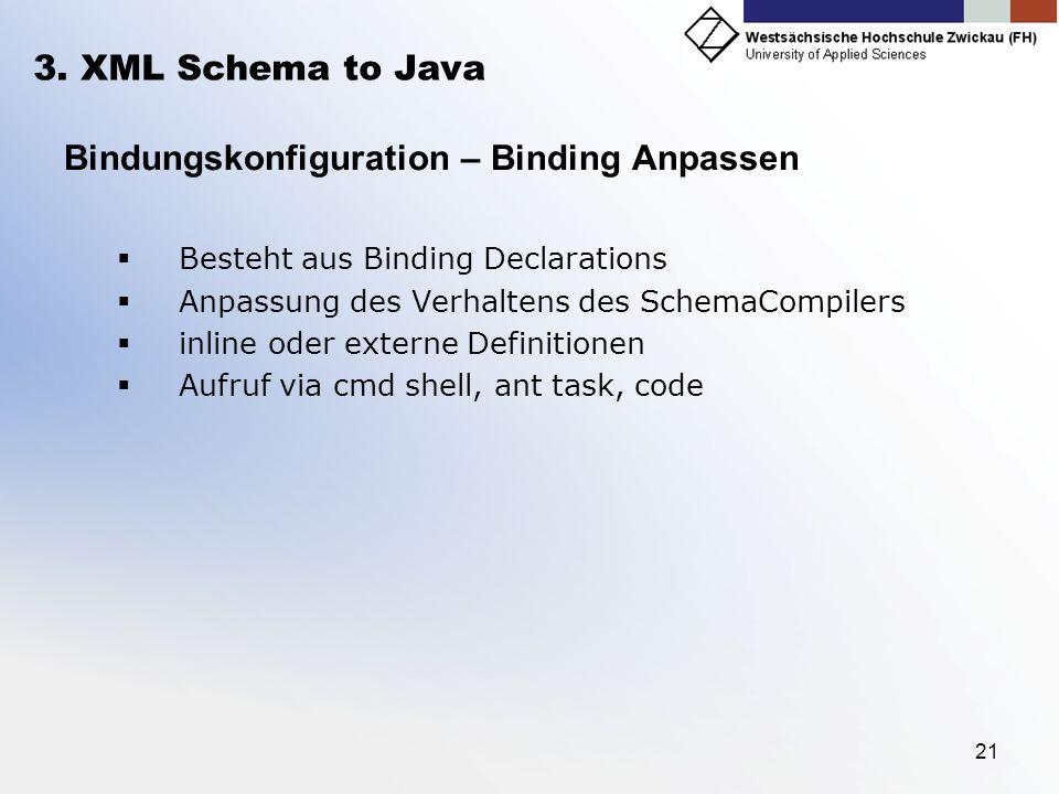 Bindungskonfiguration – Binding Anpassen