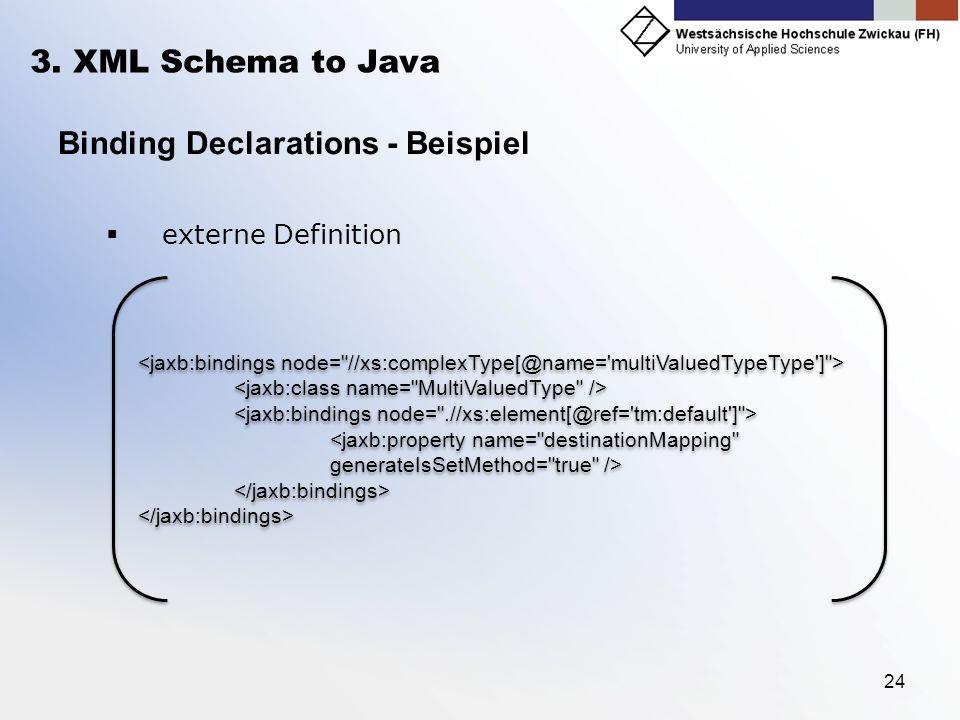 Binding Declarations - Beispiel