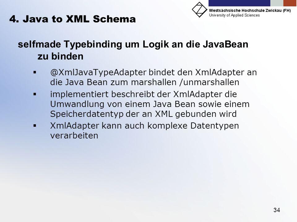 selfmade Typebinding um Logik an die JavaBean zu binden