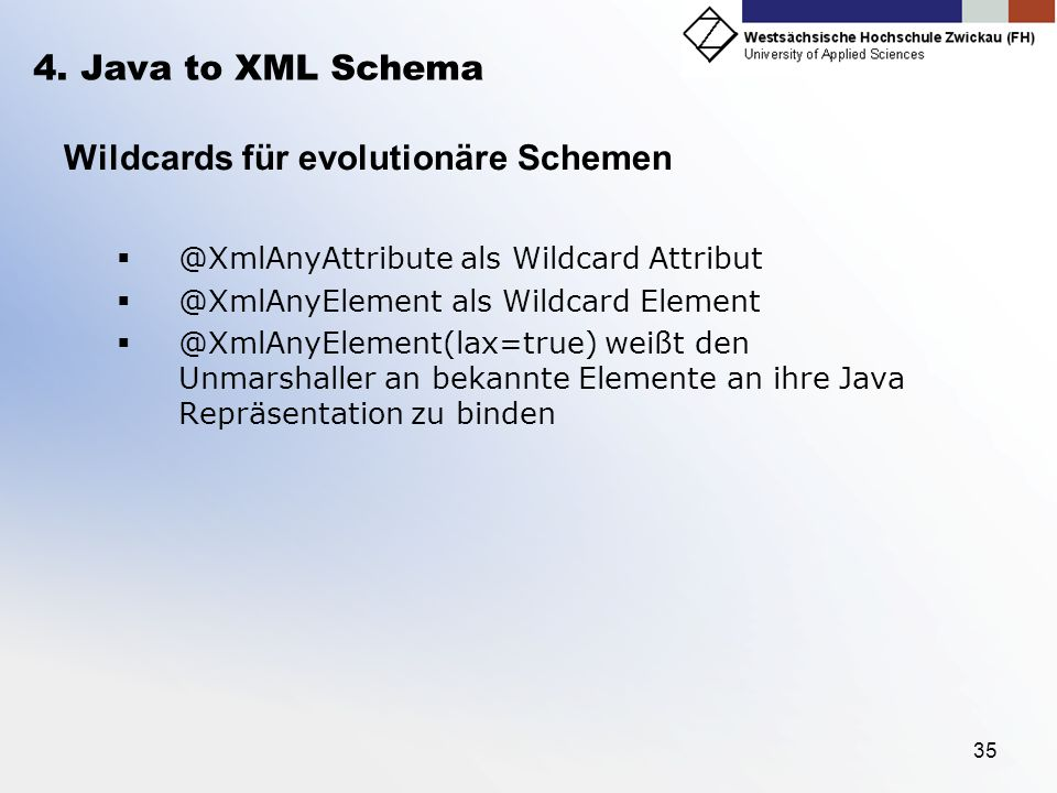 Wildcards für evolutionäre Schemen