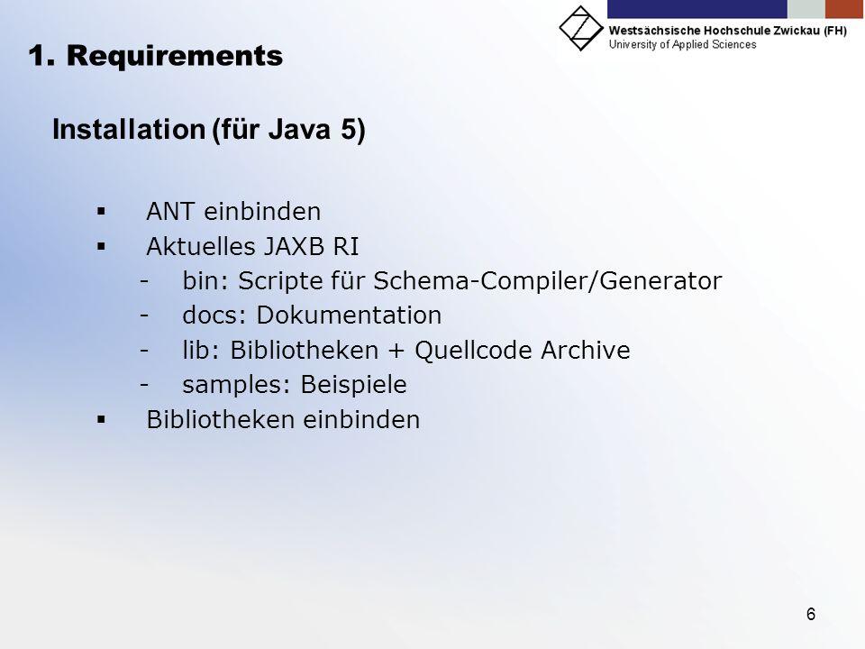Installation (für Java 5)