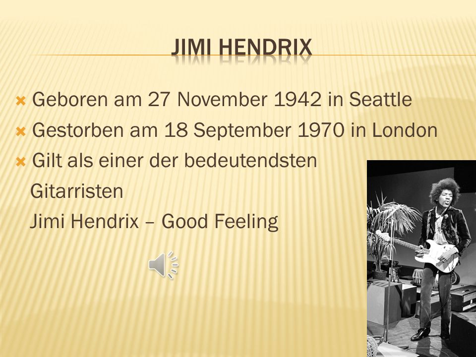 Jimi Hendrix Geboren am 27 November 1942 in Seattle